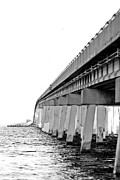 Florida Bridges Digital Art Prints - Crossing Over Print by Kendra Clayton