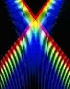 Spectrum Framed Prints - Crossing Spectra Of Coloured Light Framed Print by David Parker