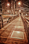 Night-scape Prints - Crossing The Bridge Print by Donald Schwartz