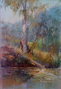 Bush Pastels - Crossing the Buckland by Pamela Pretty