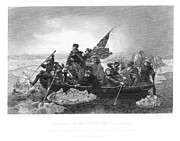Revolutionary Posters - Crossing The Delaware Poster by Granger