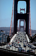 Sausalito Photos - Crossing the Golden Gate by Carl Purcell