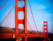 City By Water Posters - Crossing the Golden Gate Poster by Sonja Quintero