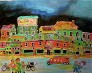 Depanneur Art - Crossing the Street by Michael Litvack