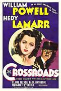 Lamarr Posters - Crossroads, Hedy Lamarr, William Poster by Everett