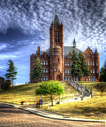 Syracuse Framed Prints - Crouse Memorial College Building at Syracuse University Framed Print by Vicki Jauron