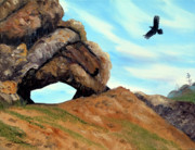 Laura Iverson - Crow Flying by Window Rock