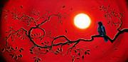 Laura Iverson - Crow in Crimson Sunset