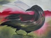 Crow Print by Karen MacKenzie