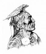 Crow Medicine Framed Prints - Crow medicine man Framed Print by Toon De Zwart