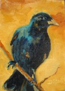 Donna Shortt Prints - Crow Vertical Print by Donna Shortt