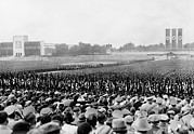 Nazi Party Metal Prints - Crowd And Troops At A Massive Nazi Metal Print by Everett