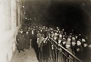 Depressions Prints - Crowd Of Men Outside The Municipal Print by Everett