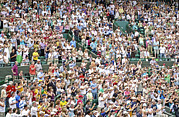Wimbledon Photo Posters - Crowd Of People Poster by Carlos Dominguez