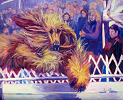 Afghan Hound Paintings - Crowd Pleaser by Terry  Chacon