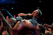 Bruce Springsteen Photo Prints - Crowd Surfing Print by Jeff Ross