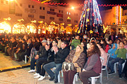 Nativity Prints - Crowds at 1st Nativity International Christmas Festival Print by Munir Alawi