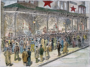 Crowd Scene Art - Crowds At Macys, 1884 by Granger