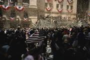 Processions Framed Prints - Crowds Gathered For A Ticker-tape Framed Print by Ira Block