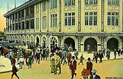 Baseball Stadiums Framed Prints - Crowds Outside Forbes Field Entrance In Pittsburgh Pa In 1910 Framed Print by Dwight Goss