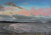 Dusk Pastels Prints - Crowdy Bay At Dusk Print by Louise Green