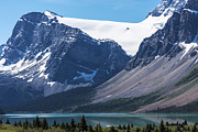 Turquoise Mountain Lake Prints - Crowfoot Glacier above Bow Lake Print by Scott Hansen