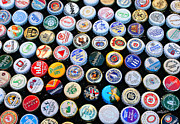 Bottle Cap Collection Posters - Crown Caps Poster by Jutta Maria Pusl