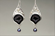 Hand Made Jewelry - Crown Drusy Earrings by Beverly Fox