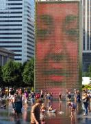 Installation Art Framed Prints - Crown Fountain Chicago Framed Print by Frank Winters