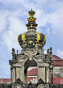 Gold Crown Framed Prints - Crown Gate - Kronentor Zwinger Palace Dresden Framed Print by Christine Till