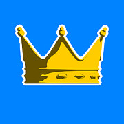 King Digital Art - Crown Graphic Design by Pixel Chimp