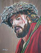 Mysteries Painting Posters - Crown of Thorns Poster by Bryan Bustard