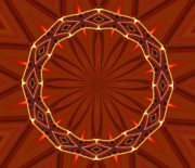 Kaleidoscope Art - Crown of Thorns by Kristin Elmquist