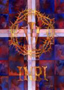 Christ Painting Originals - Crown Of Thorns by Mark Jennings