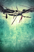Jesus Crucifixion Photos - Crown of Thorns with Blood by Jill Battaglia