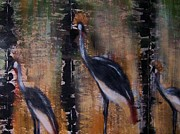Cranes Originals - Crowned cranes by Joseph Ferguson