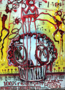 Drippy Mixed Media - Crowning a Muffyn by Robert Wolverton Jr