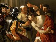 Religious Paintings - Crowning with Thorns by Dirck van Baburen