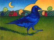 Raven Moon Prints - Crows Run Print by Stacey Neumiller