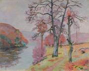 Fall Paintings - Crozant Brittany by Jean Baptiste Armand Guillaumin