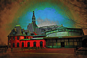 Liberty Island Digital Art - CRRNJ Train Station  by Bill Cannon