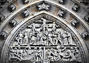 Crucified Photos - Crucified Christ - Saint Vitus Cathedral Prague Castle by Christine Till