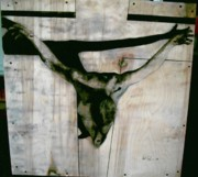 Salvador Mixed Media - Crucified by Robert Cunningham