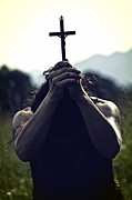 Dusky Prints - Crucifix Print by Joana Kruse