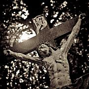 Sunlight Metal Prints - Crucifixion Metal Print by David Bowman
