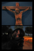 Religious Digital Art - Crucifixion by James W Johnson