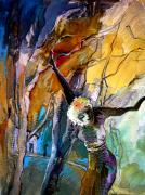 Crucifixion Mixed Media Prints - Crucifixion Print by Miki De Goodaboom