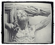 Christ Drawings - Crucifixion of Christ by Jesus Catalan