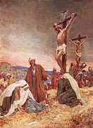 Bible Painting Prints - Crucifixion Print by William Brassey Hole