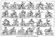 Cruikshank Art - Cruishank: Velocipede by Granger